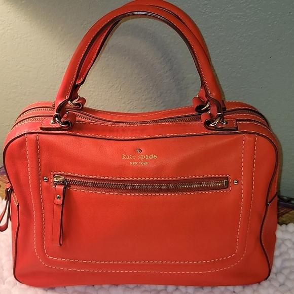 Kate Spade Medium Orange Satchel Handbag